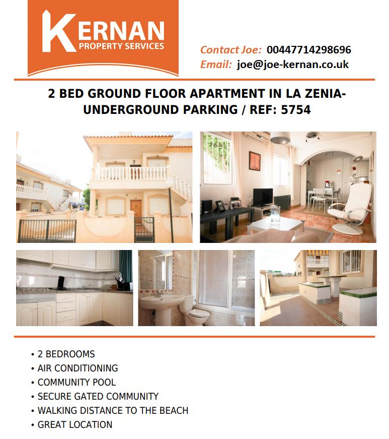 Ground Floor apartment in La Zenia Alicante